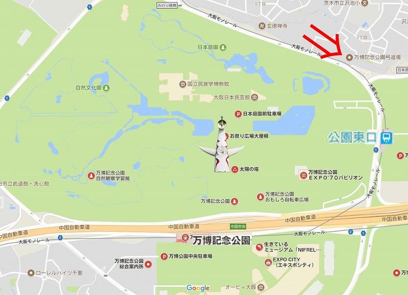 万博記念公園周辺地図