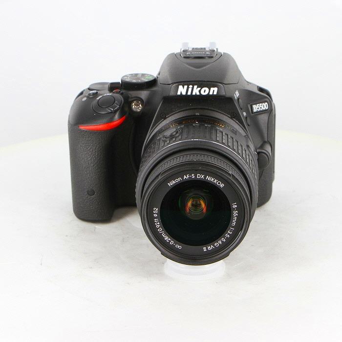 【中古】(ニコン) Nikon D5500 18-55VR2 レンズキツト ブラツク