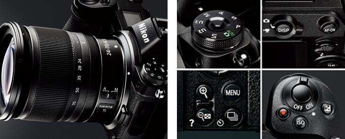 ニコンデジタル一眼レフカメラを踏襲した直感的な操作性